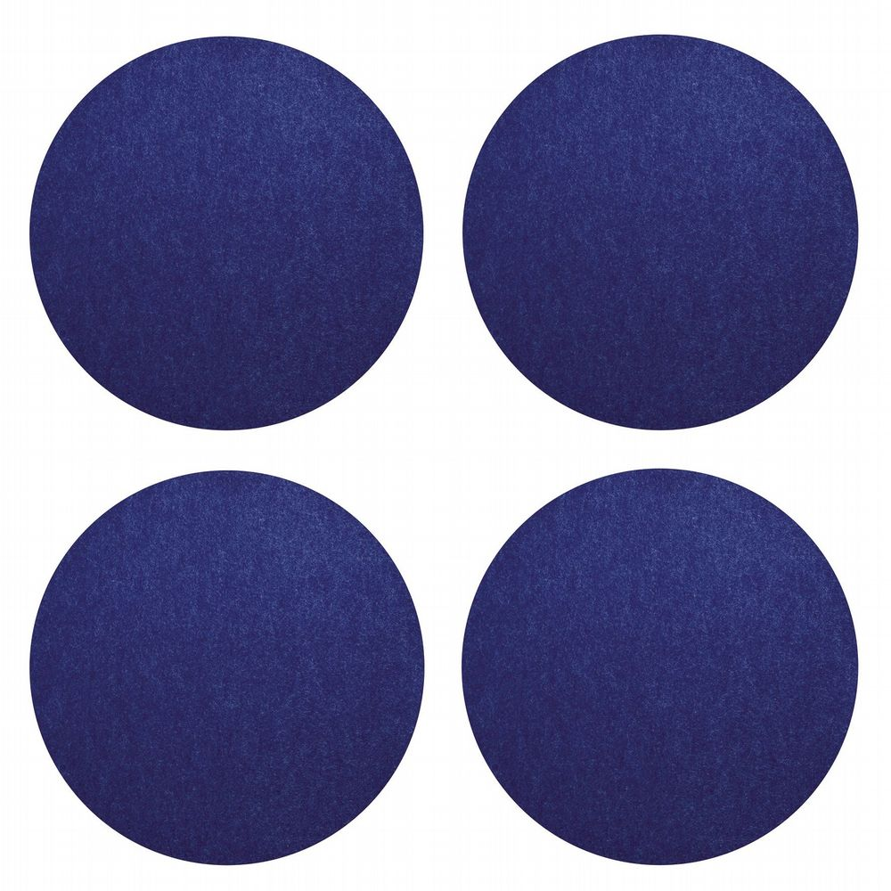 Vegan Felt Coasters - Pack Of 4 - Blue